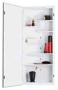 36 x 16 in. Single Door Frameless Medicine Cabinet in Basic White
