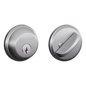 5-Pin Heavy Duty Single Cylinder Deadbolt in Satin Chrome