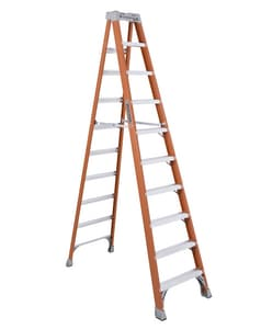 10 FT F/GLS 300# STEP LADDER