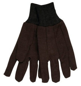 Small Cotton-Plastic Jersey Glove in Brown