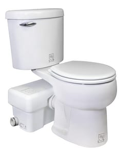 1.28 gpf Round Toilet in White with Right-Hand Trip Lever
