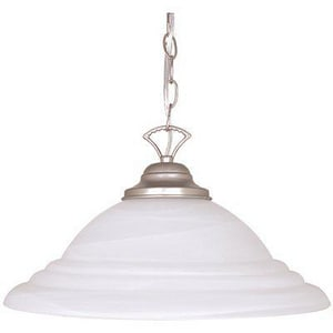 1-Light 150W Pendant in Satin Nickel