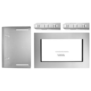 1.6 cu. ft. 30 in. Countertop Trim Kit in Stainless Steel