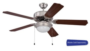 52 in. 5-Blade Ceiling Fan Compact Fluorescent in Brushed Polished Nickel