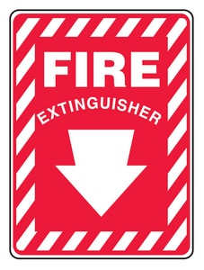14X10 VINYL ADHE SIGN FIRE EXTIN