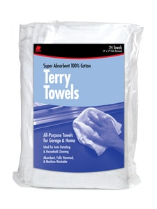 TERRY CLO TWL WHT 24PK BAG