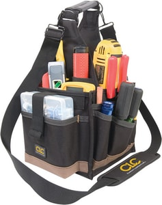 23-Pocket Electrical and Maintenance Tool Pouch in Black