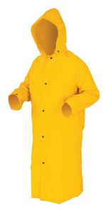 Large Raincoat with Detachable Hood in Yellow