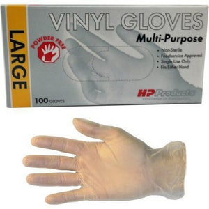 S Size Plastic Glove in Clear (100 per Box)