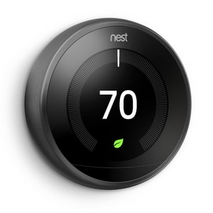 Learning Thermostat in Black