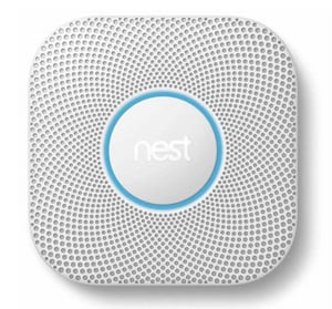 Wired-In Combination Smoke and Carbon Monoxide Alarm in White