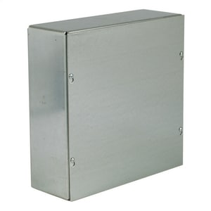 12-1/8 x 12-1/8 x 4-3/16 in. Pre-Galvanized Steel and Plastic Screw Cover Pull Box Enclosure