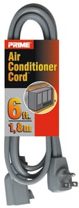 6 ft. 14/3 ga SPT-3 Air Conditioner Cord in Grey