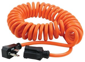 10 ft. Coiled Power Tool Cord in Orange
