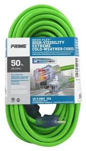 100 ft. Extension Cord in Neon Green