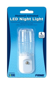 Automatic LED Night Light in White 1 Pack