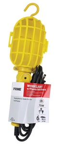75W Yellow Work Light with Plastic Guard