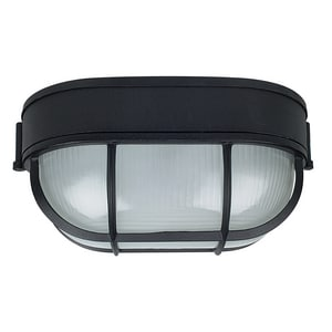 60W Wall Mount Outdoor Wall Sconce with Frosted Prismatic Glass in Black