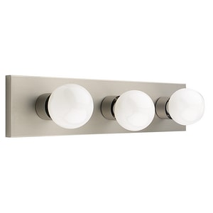 3-Light 60W Vanity Light in Satin Nickel