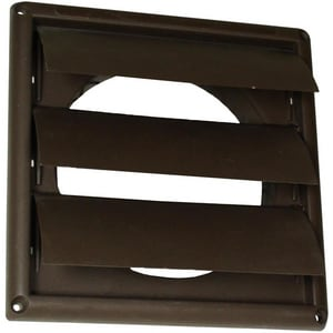 4 in. Louvered Vent Hood Brown