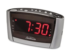 CLOCK RADIO W/ USB PORT BLAC
