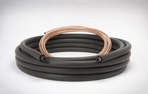 3/8 x 7/8 x 3/8 in. x 50 ft. Copper Plain End Line Set