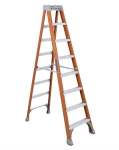 8 FT F/GLS 300# STEP LADDER