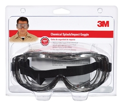 3M Anti-Fog Chemical Splash Goggles Clear Lens Silver Frame 1 pc.