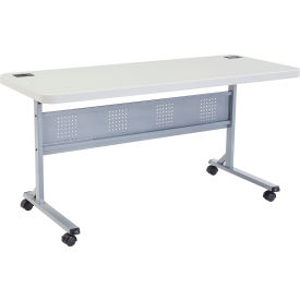 "interion® 60"" x 24"" blow molded foldable training table - white Interion® 60"" x 24"" Blow Molded Foldable Training Table - White"