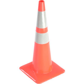 "28"" traffic cone w/ custom imprinting, reflective, orange, 5 lbs, 2825-05-mm-l"