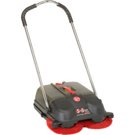 hoover® spinsweep pro outdoor motorless push sweeper, 6.6 gallon capacity Hoover® SpinSweep Pro Outdoor Motorless Push Sweeper, 6.6 Gallon Capacity
