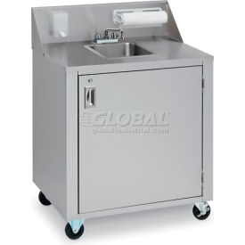 crown verity® cvphs-1 single bowl portable hand sink cart Crown Verity® CVPHS-1 Single Bowl Portable Hand Sink Cart