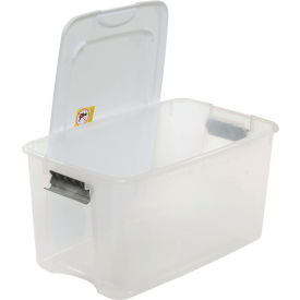 sterilite 19889804 clear storage tote with lid 70 quart 26-1/8x16-1/4x13-1/2 Sterilite 19889804 Clear Storage Tote With Lid 70 Quart 26-1/8x16-1/4x13-1/2