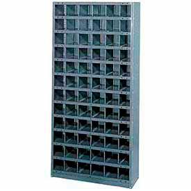601513-Steel Storage Bin Cabinet 36x18x39, 16 Compartments