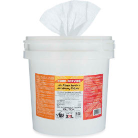 2XL-445 2XL No Rinse Food Service Sanitizing Wipes Bucket, 500 Wipes/Bucket, 2 Buckets/Case - 2XL-445