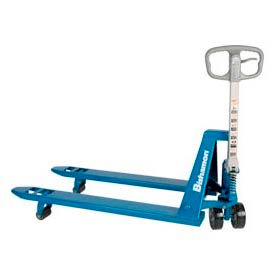 BS-55E Bishamon; BS-55 Blue Label; Narrow Fork Pallet Jack Truck 5500 Lb. Capacity 21 x 48