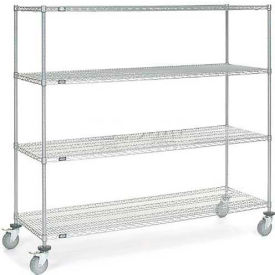 168221 Nexel; Chrome Wire Shelf Truck 72x24x69 1200 Pound Capacity