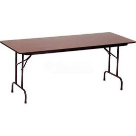 "CF3060M-01 Correll Folding Table - Laminate - 30"" x 60"" - Walnut"
