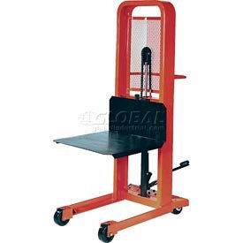 M166 PrestoLifts; Hydraulic Stacker Lift Truck M166 1000 Lb. with Platform