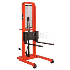 M252 PrestoLifts; Hydraulic Stacker Lift Truck M252 1000 Lb. with Adj. Forks