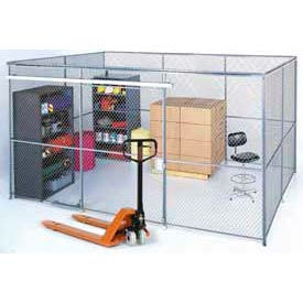 180360-Wire Mesh Partition Security Room 10x10x10 with Roof - 3 Sides