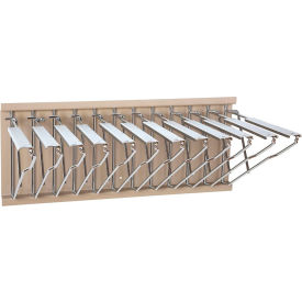 WRWH Brookside Design - Pivot Wall Mount Blueprint Storage Rack with 12 Hangers