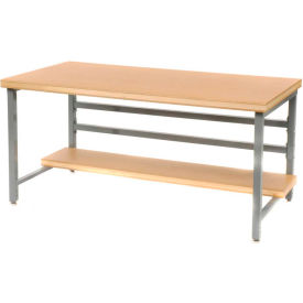 "DSB3053126-GY Stationary 60"" X 30"" Shop Top Square Edge Workbench - Gray"
