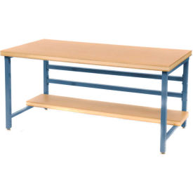 "DSB3663126-BL Stationary 72"" X 36"" Shop Top Square Edge Workbench - Blue"