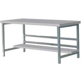 "DSB3053165-GY Stationary 60"" X 30"" Plastic Laminate Square Edge Workbench - Gray"