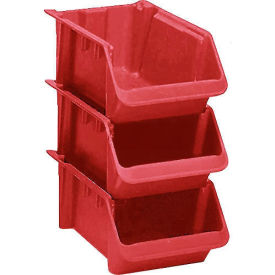 "SH2411-8RED LEWISBins Fiberglass Hopper Bin SH2411-8 Stack And Nest 24""L x 11-1/2""W x 8""H Red"