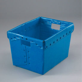 1577B Corrugated Plastic Totes - Postal Nesting- Without Lid 18-1/2x13-1/4x12 Blue