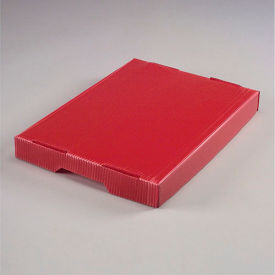 7532R Corrugated Plastic Postal Mail Tote Lid Red