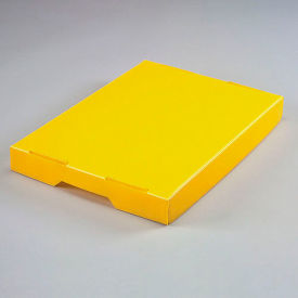 7532Y Corrugated Plastic Postal Mail Tote Lid Yellow