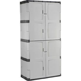 "FG708300MICHR Rubbermaid 7083 Plastic Storage Cabinet Full Double Door 36""W x 18""D x 72""H"